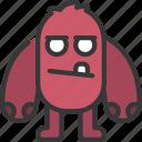 big, arm, monster, cartoon, character