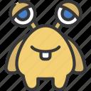 big, long, eyes, monster, cartoon, character
