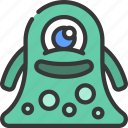 blob, monster, cartoon, character, alien