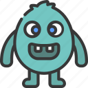 egg, shape, monster, cartoon, character