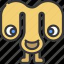 floppy, eyes, monster, cartoon, character