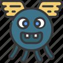 flying, bug, monster, cartoon, character