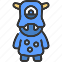 hippo, face, monster, cartoon, character