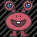 long, eyes, monster, cartoon, character