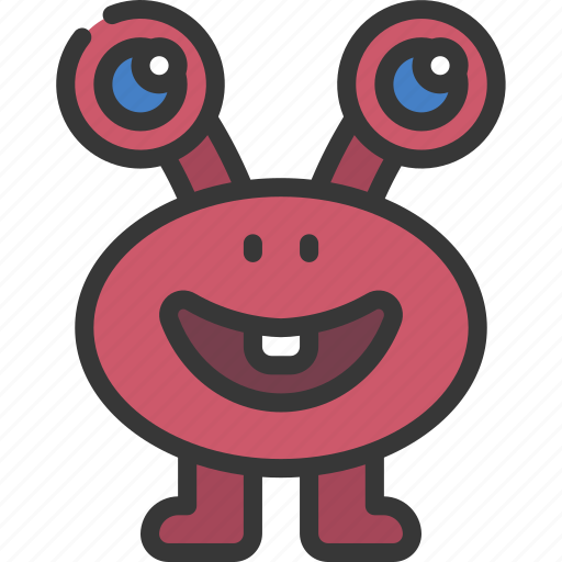 Long, eyes, monster, cartoon, character icon - Download on Iconfinder