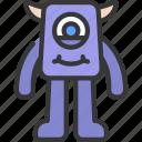 long, leg, monster, cartoon, character, alien