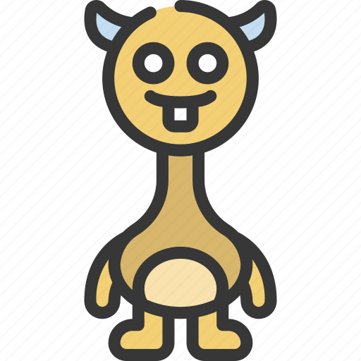 Long, neck, monster, cartoon, character icon - Download on Iconfinder