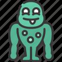 muscle, monster, cartoon, character, alien