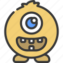 oval, monster, cartoon, character, alien