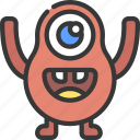 pear, shape, monster, cartoon, character