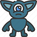 pointy, ears, monster, cartoon, character