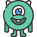 round, gangly, monster, cartoon, character
