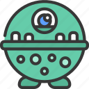 round, spotted, chin, monster, cartoon, character