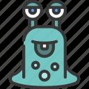 slug, blob, monster, cartoon, character