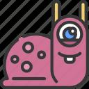 snail, monster, cartoon, character, alien