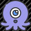 squid, monster, cartoon, character, alien