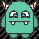 stubby, monster, cartoon, character, alien