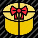 box, circle, gift, present icon