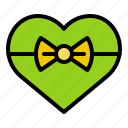bow, box, gift, heart, love, present icon