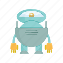 cartoon, character, droid, machine, mascot, robot icon