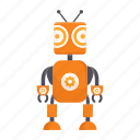 ant, cartoon, character, droid, mascot, robot icon