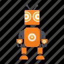 ant, cartoon, character, droid, mascot, robot