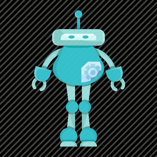cartoon, character, cyborg, mascot, robot icon