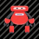 cartoon, character, cyborg, mascot, robot