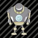 artificial intelligence, cyborg, humanoid, machine, robot icon