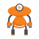 character, humanoid, intelligence, mascot, robot icon