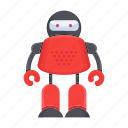 bot, cartoon, cyborg, humanoid, robot, toy icon