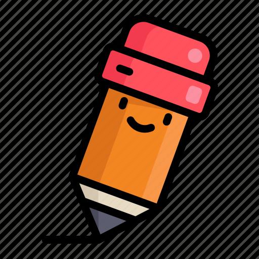 cute, education, pencil, school icon