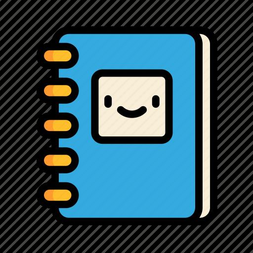 cute, education, notebook, school icon