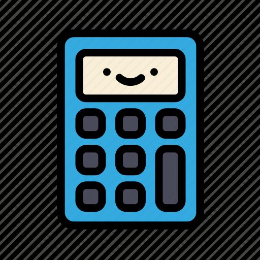 calculator, cute, education, math, school icon
