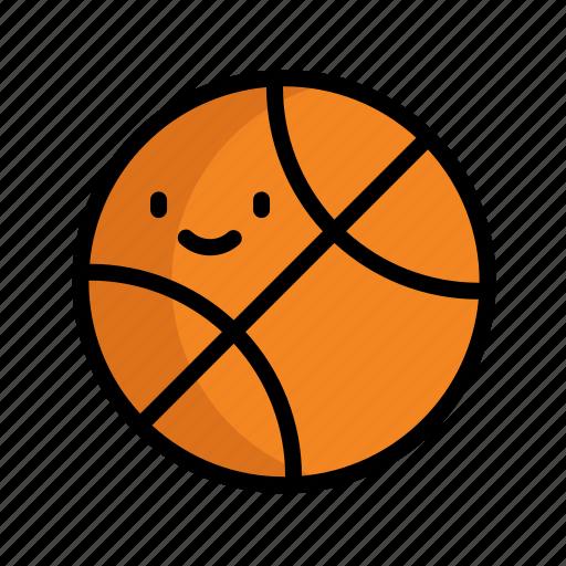 ball, basketball, cute, education, school icon