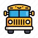 bus, school, education, school bus, cute