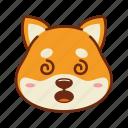 animal, confuse, dog, emoji, kawaii, pet, shiba