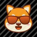 animal, cool, dog, emoji, kawaii, pet, shiba