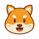 animal, dog, emoji, happy, kawaii, pet, shiba