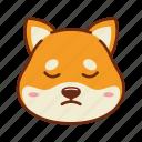 animal, dog, emoji, kawaii, pet, sad, shiba