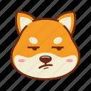 animal, dog, emoji, kawaii, pet, shiba, whew