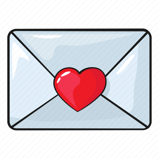 heart, line, love, mail, set, template, weeding icon