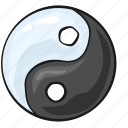 china, line, set, template, yin, yin and yang, yinyang icon