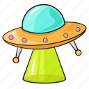 alien, cartoon, line, set, space, template, u.f.o icon