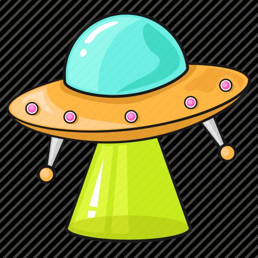 alien cartoon line set space template u f o icon