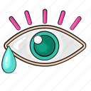 boho, cry, eyes, hipster, line, set, template icon