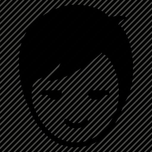 avatar, boy, face, glare, happy, man, smile icon