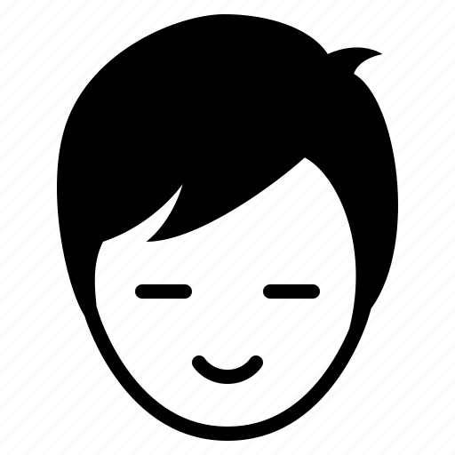 avatar, boy, face, gloomy, happy, man, smile icon