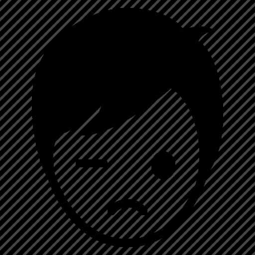 avatar, boy, emotion, face, man, sad icon