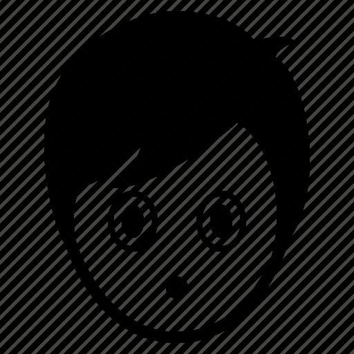 avatar, boy, emotion, face, man, speechless, surprise icon